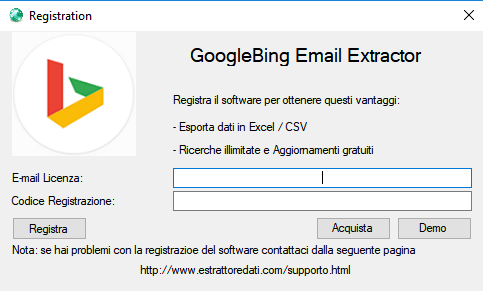 Google/Bing Email Extractor | Extract Email and Phones from